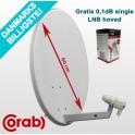 60cm Parabolskærm Corab ASC-600P + gratis single LNB hoved