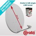 80cm Parabolskærm Corab ASC-800M + gratis single LNB hoved