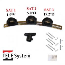 TELE System Multi Block Feedholder til 3 LNBer