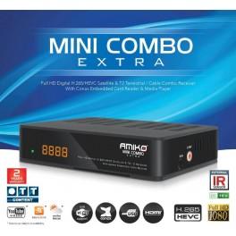 Amiko Mini Combo Extra DVBS/S2 & DVBT2/DVBC receiver