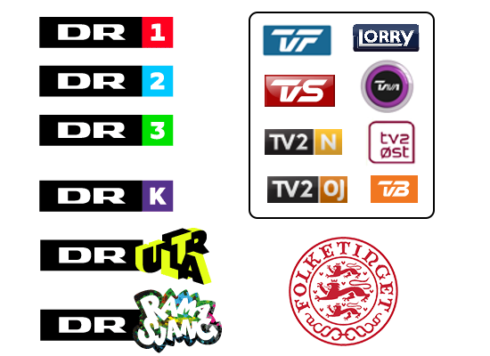 De gratis digitale danske TV-kanaler