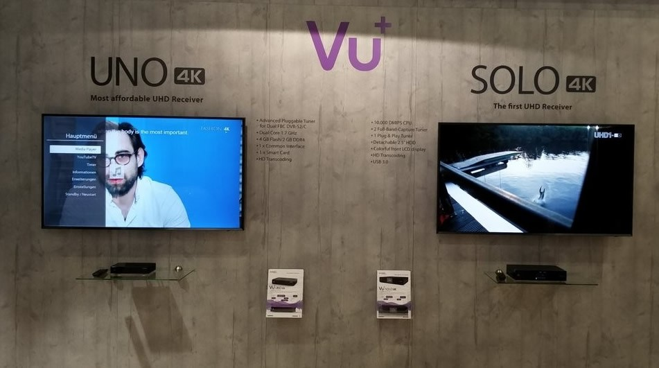 Vu+ UNO 4K 1x DVB-S2 FBC Twin Tuner PVR ready Linux Receiver UHD 2160p