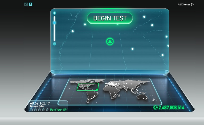 Internet test speed