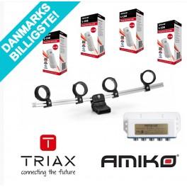 Amiko LH4 multi-blok feed holder inkl. 4 LNBer