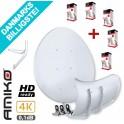 Amiko D90 Toroidal Multibeam Parabol + gratis vægbeslag + 5 stk. gratis single LNB hoveder