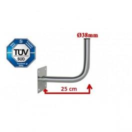 Antenne/parabolbeslag Corab til væg eller mur 25cm Ø38mm